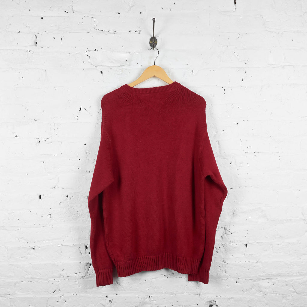 Vintage Tommy Hilfiger Jumper - Red - L