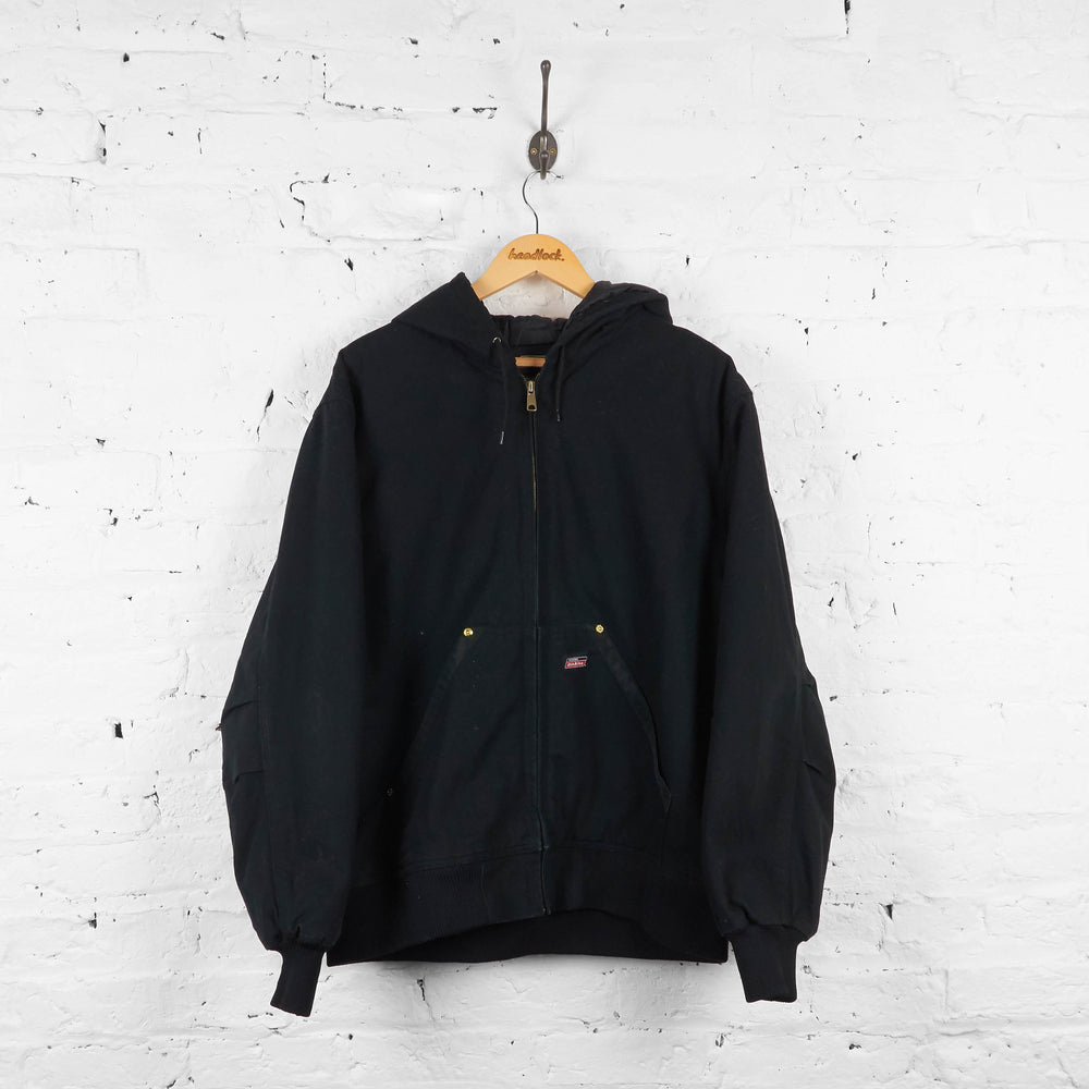 Vintage Dickies Hooded Jacket - Black - XL