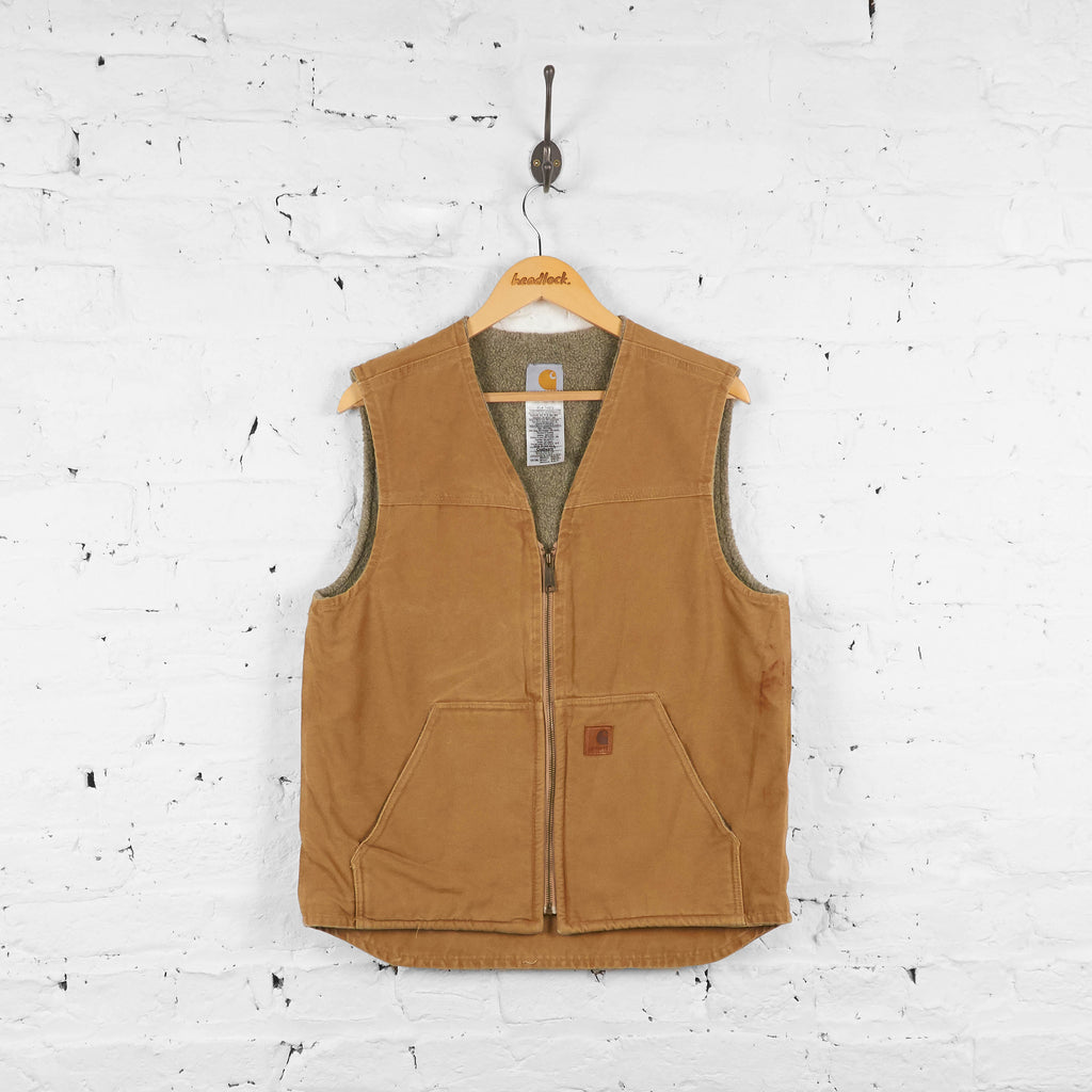 Vintage Sleeveless Carhartt Gilet - Brown - M