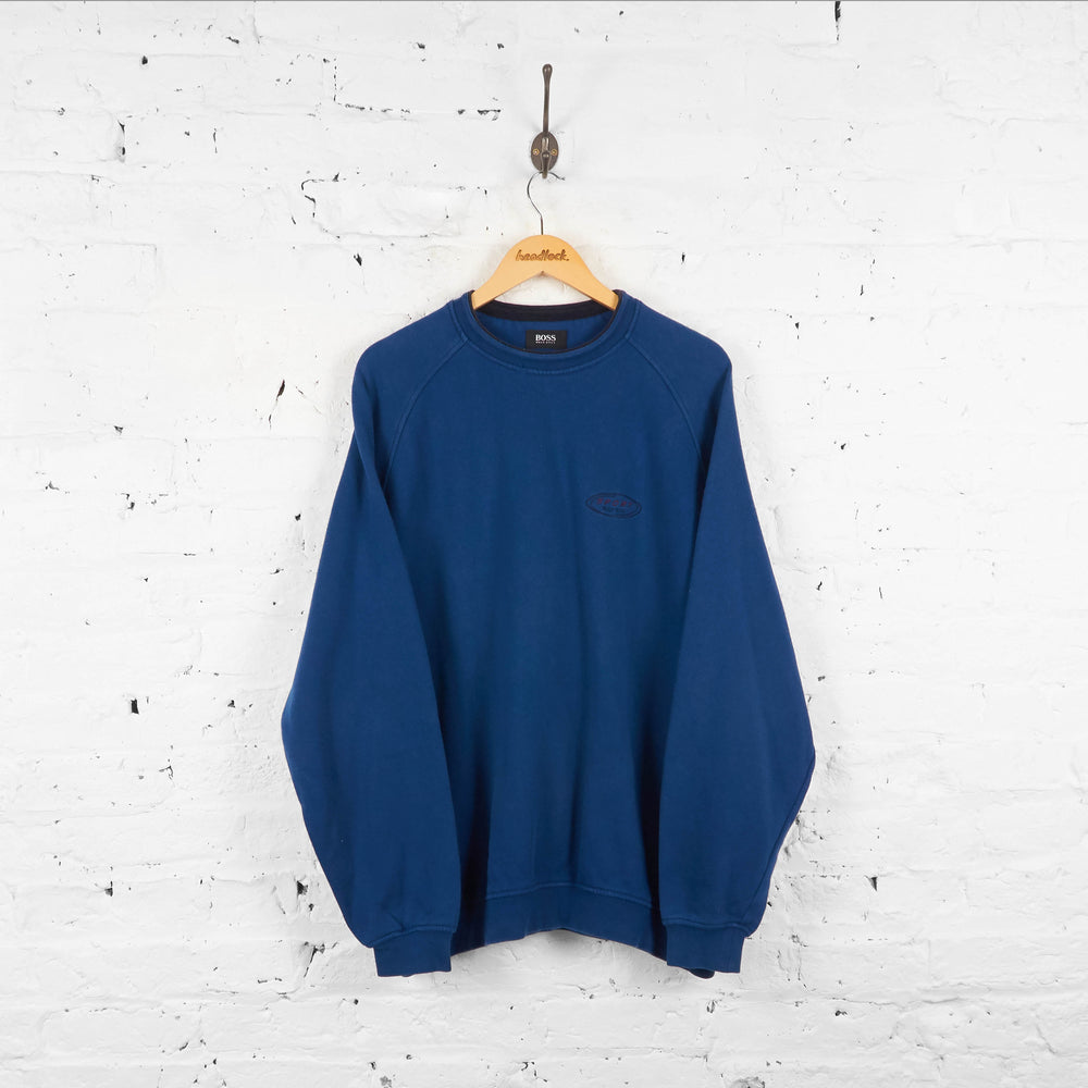 Vintage Hugo Boss Sport Sweatshirt - Blue - XL