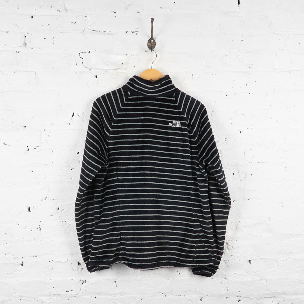 Vintage Striped Women's The North Face Fleece - Black/White - XL