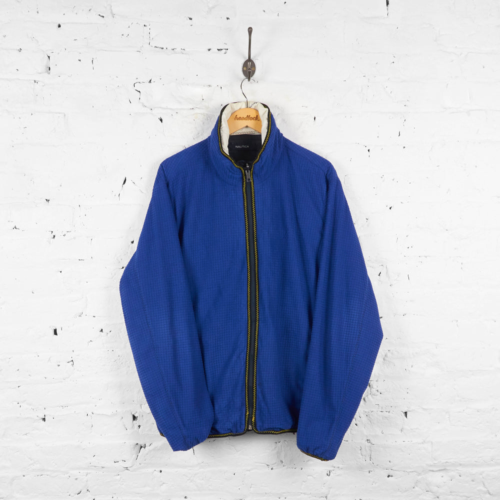 Vintage Nautica Reversible Jacket - Blue/Black/White - M