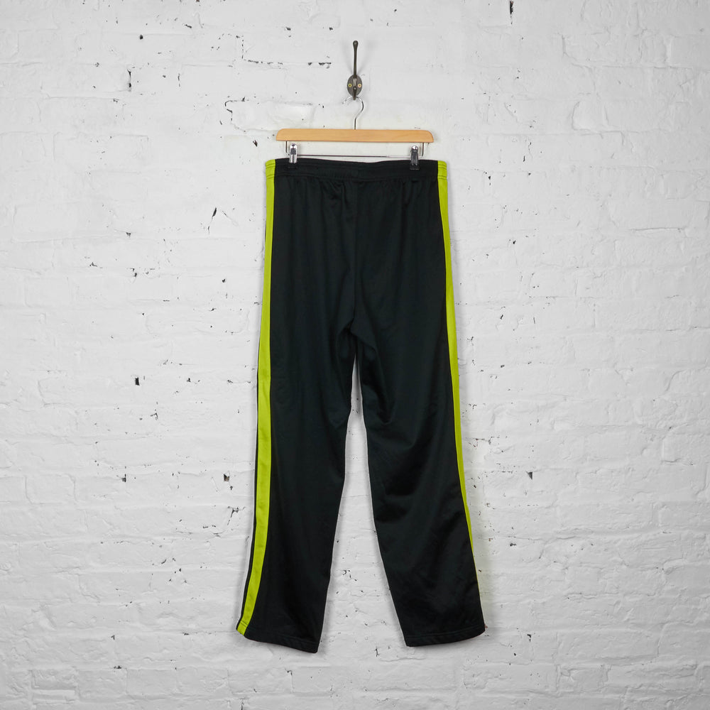 Vintage Fila Neon Tracksuit Bottoms - Black/Green - L