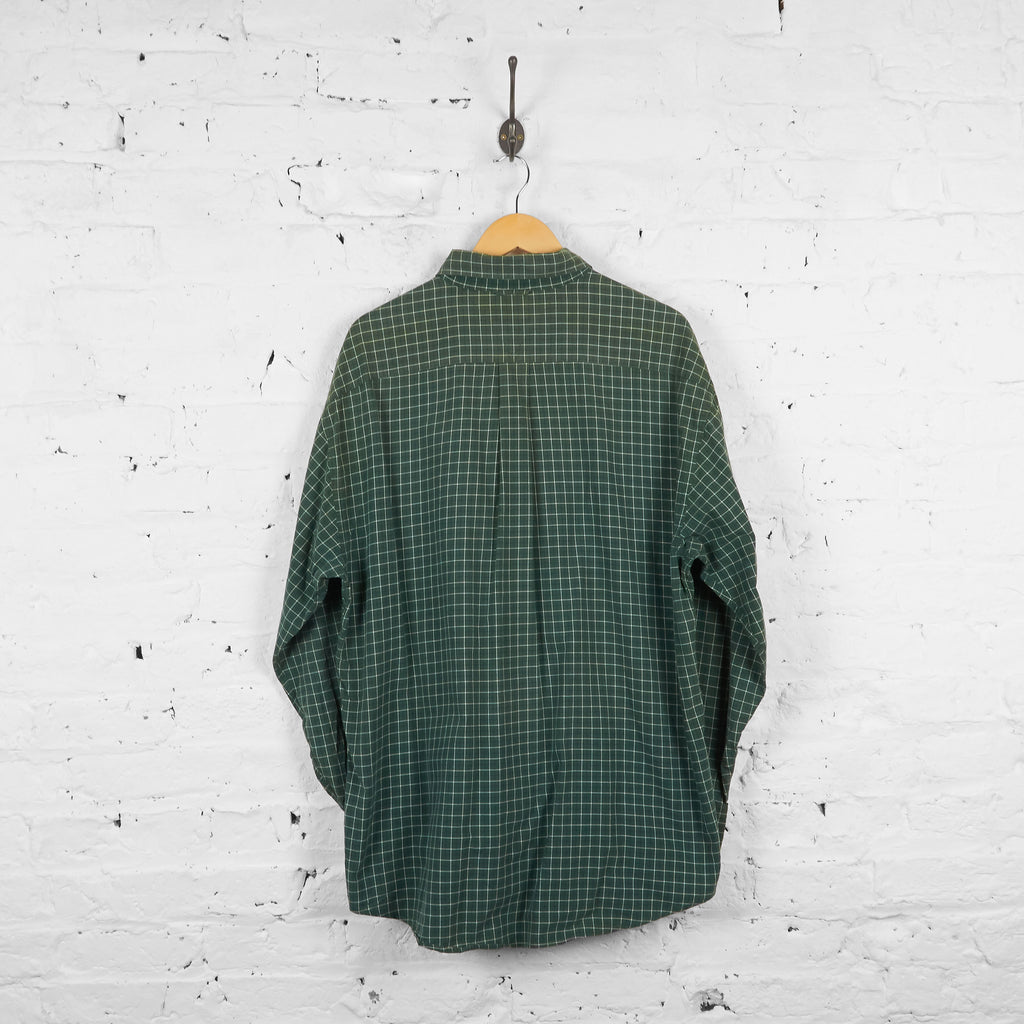 Vintage Tommy Hilfiger Checked Shirt - Green - XL