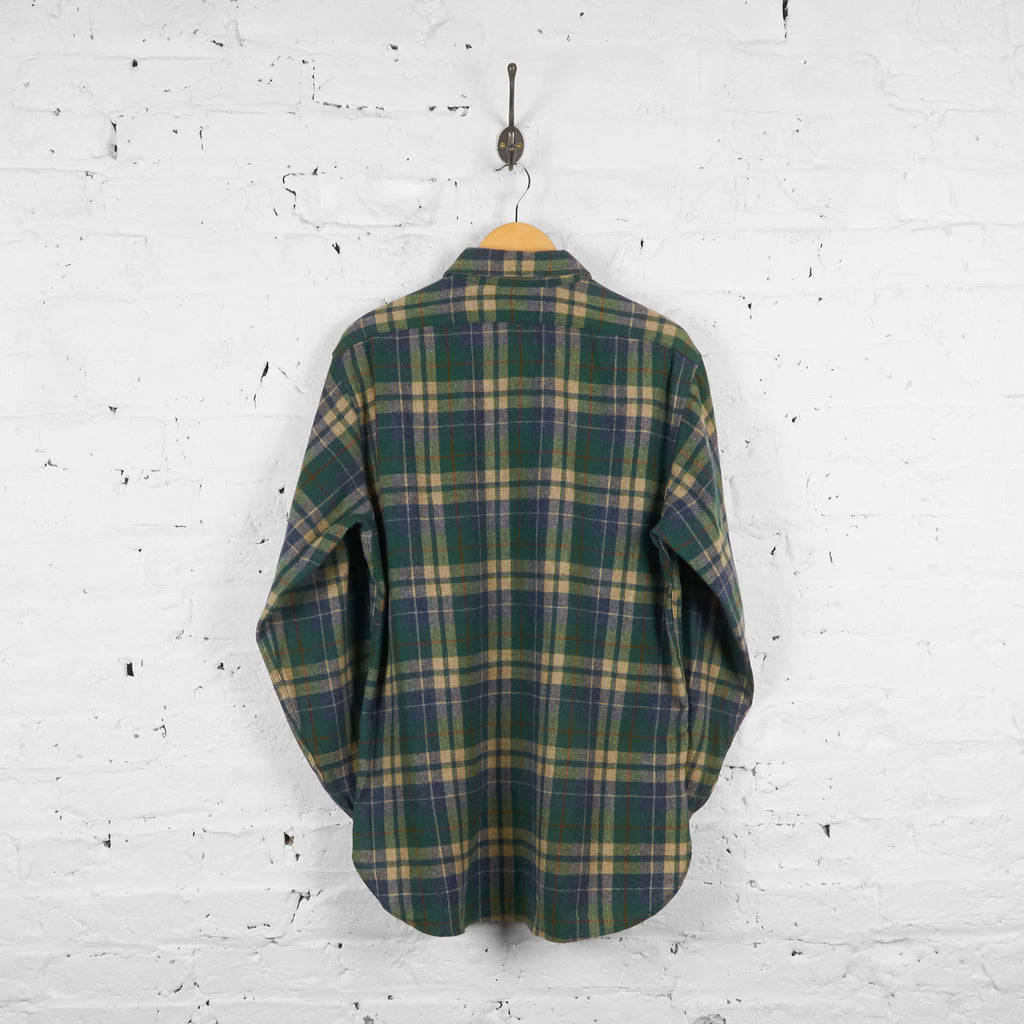 Vintage Checked Wool Pendleton Shirt - Green - L