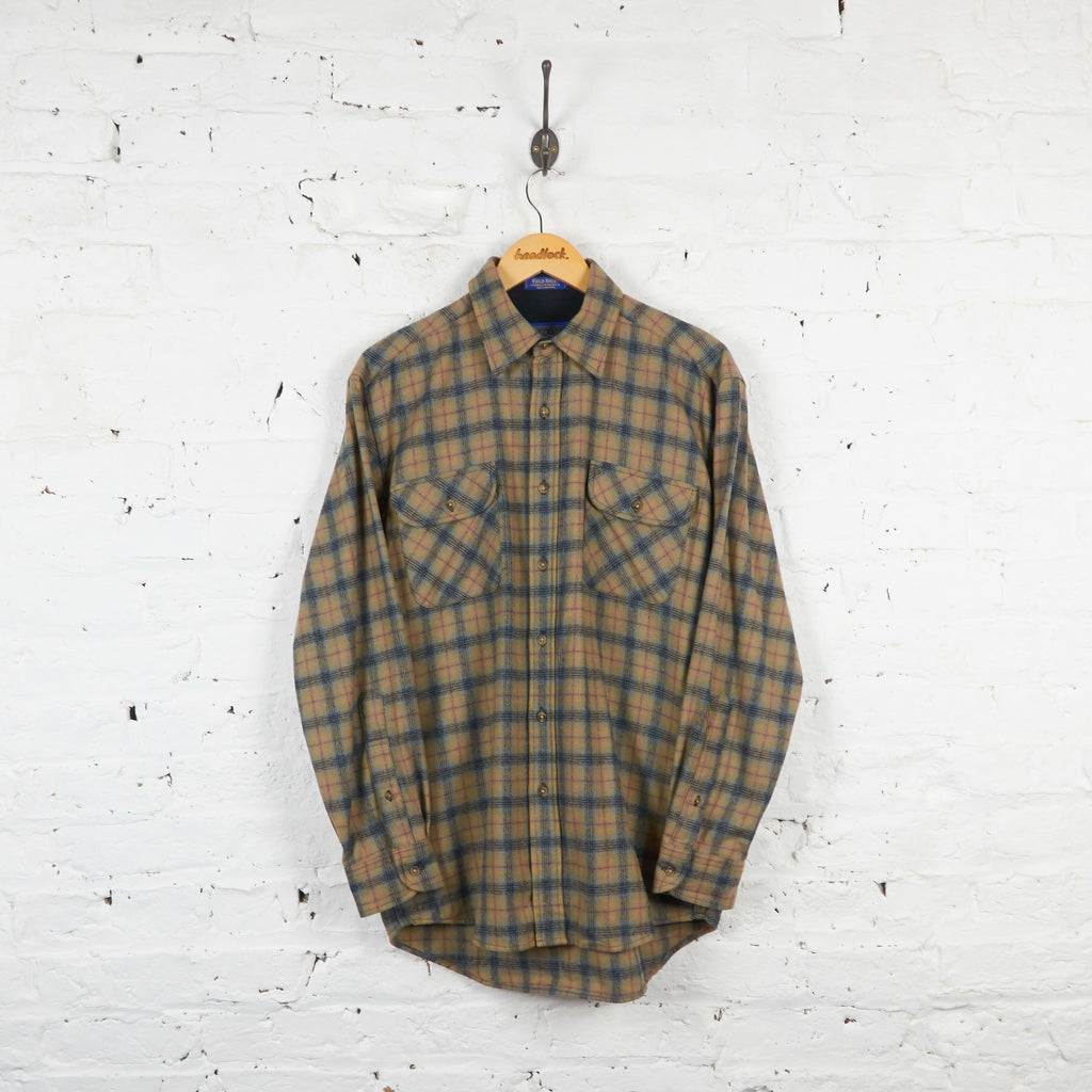 Vintage Pendleton Wool Checked Shirt - Brown/Red - M