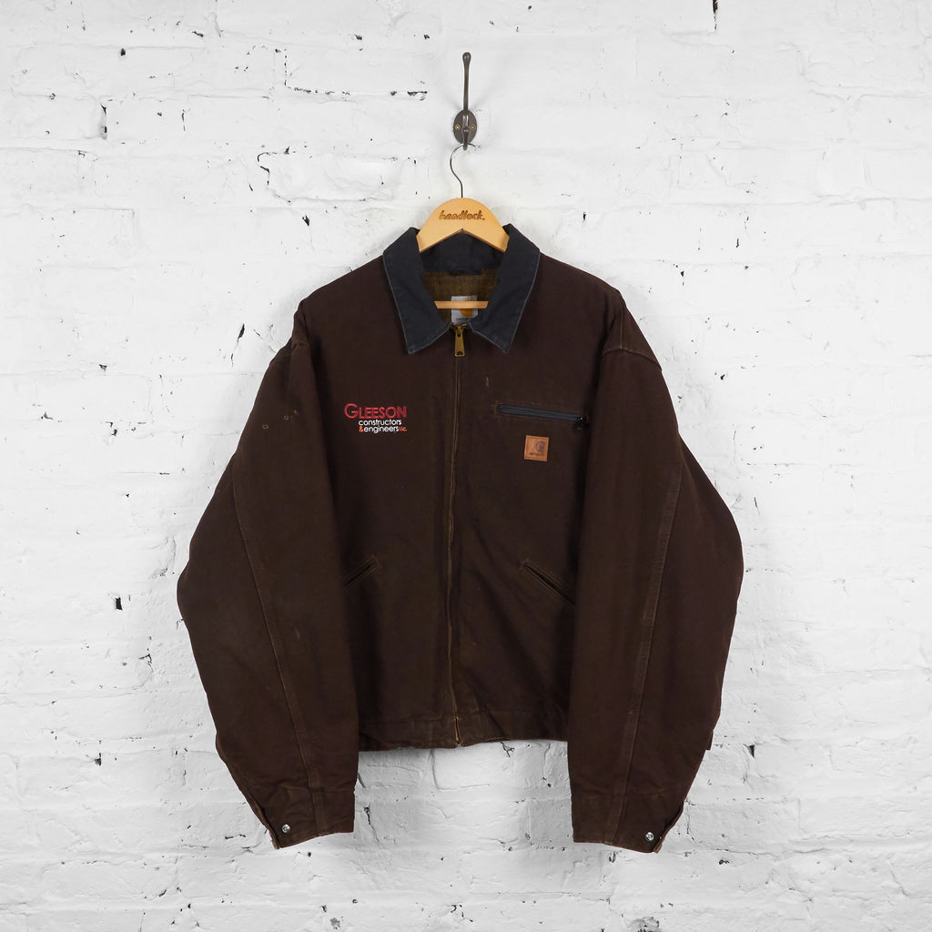 Vintage Collared Workwear Carhartt Jacket - Brown - XXL