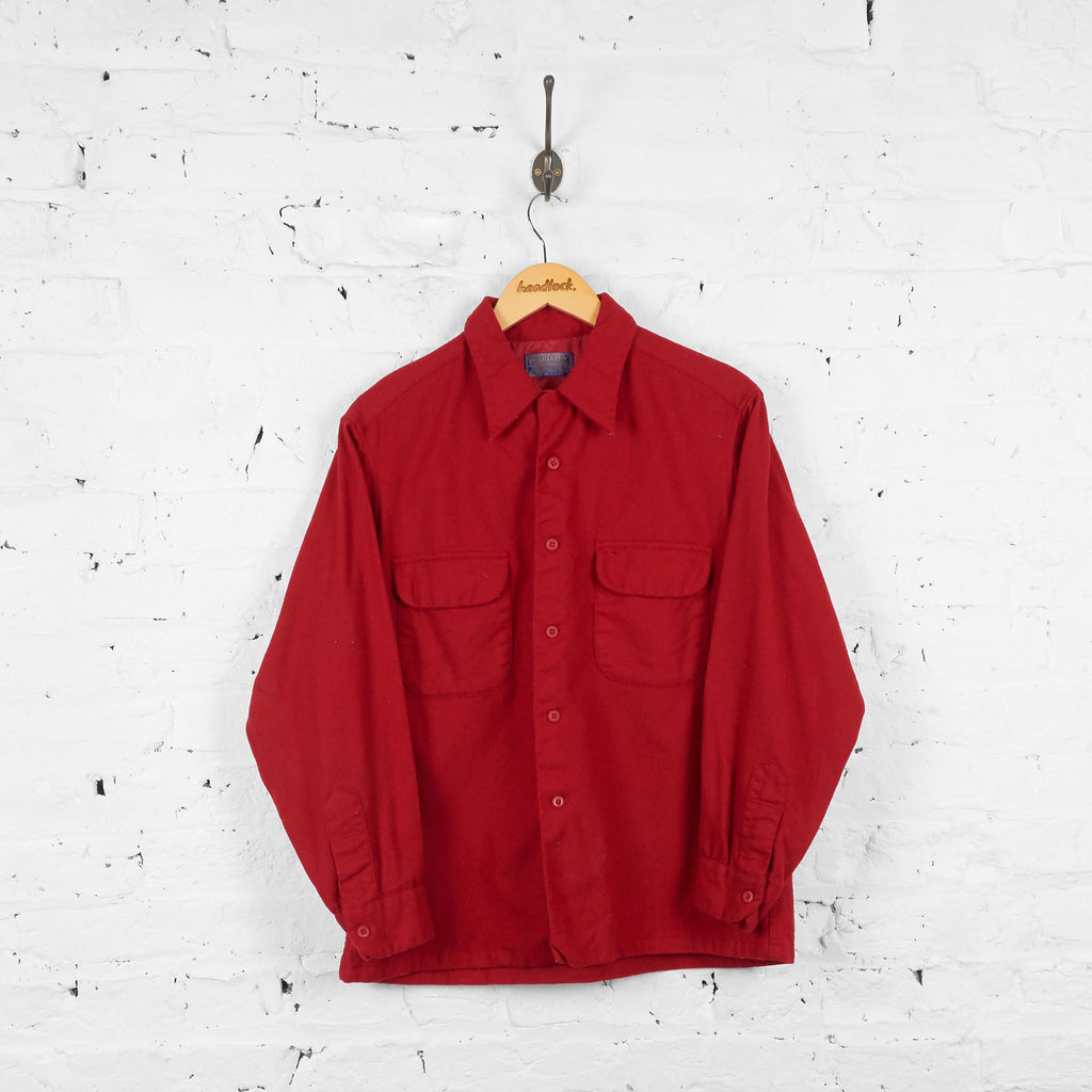 Vintage Pendleton Wool Shirt - Red - L