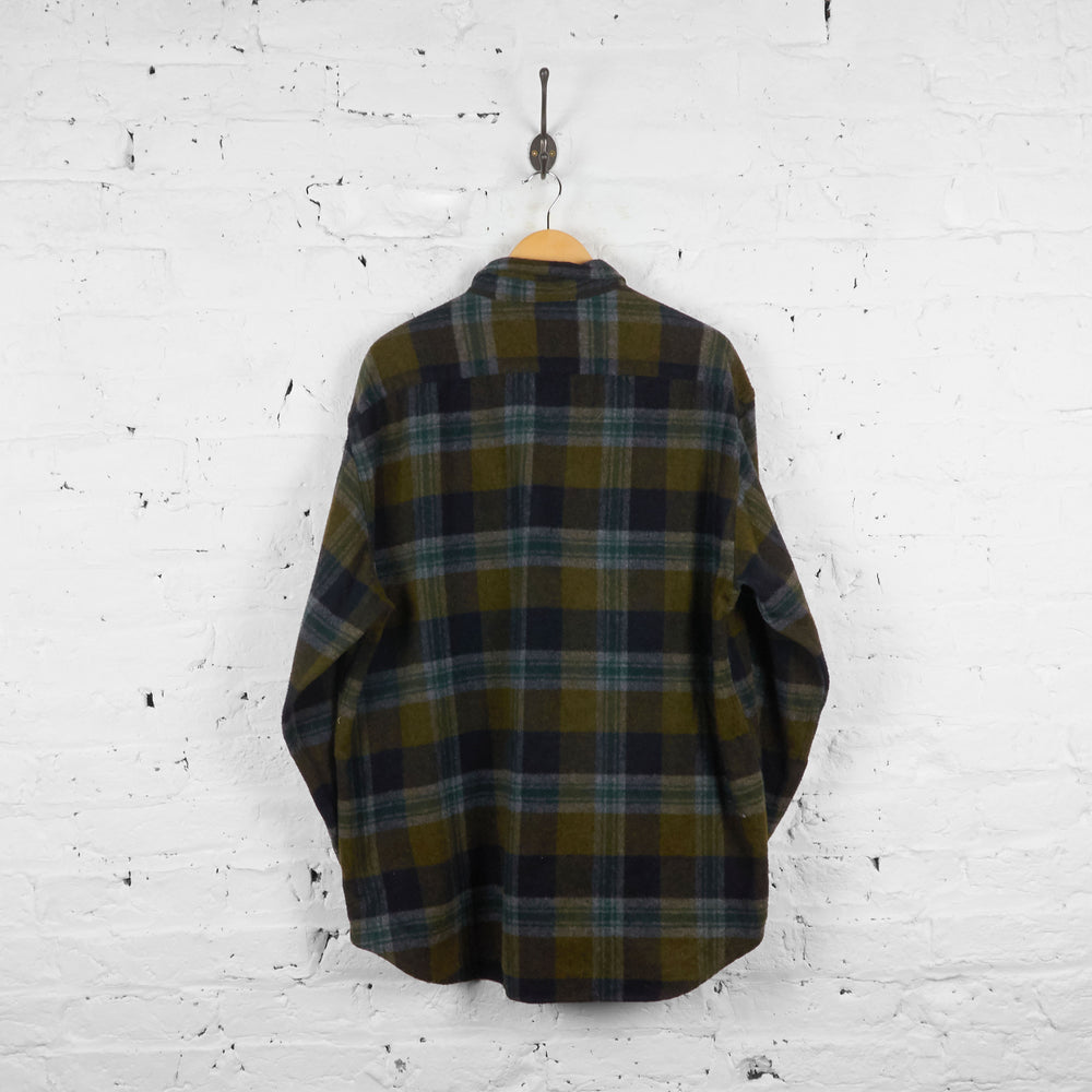 Vintage Tommy Hilfiger Checked Wool Shirt - Brown/Black - XL