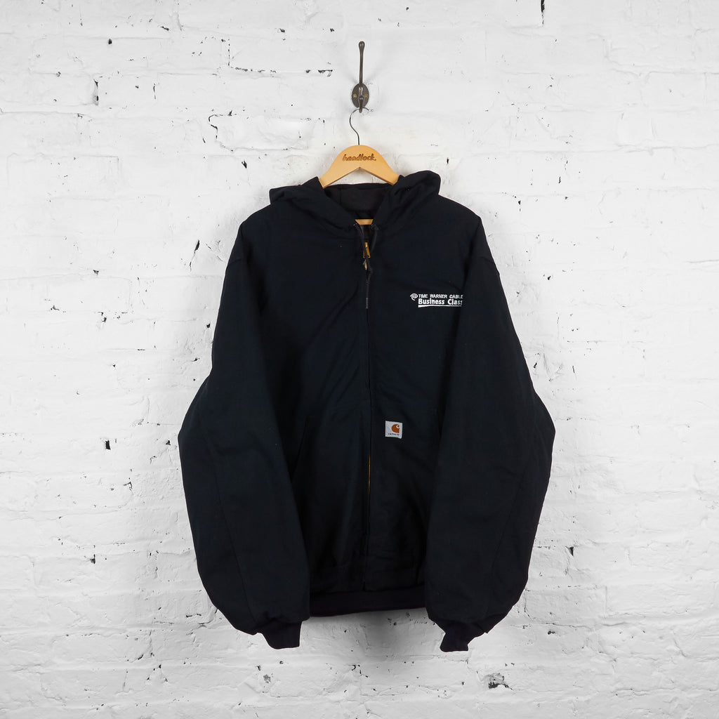 Vintage Hooded Carhartt Workwear Jacket - Black - XL