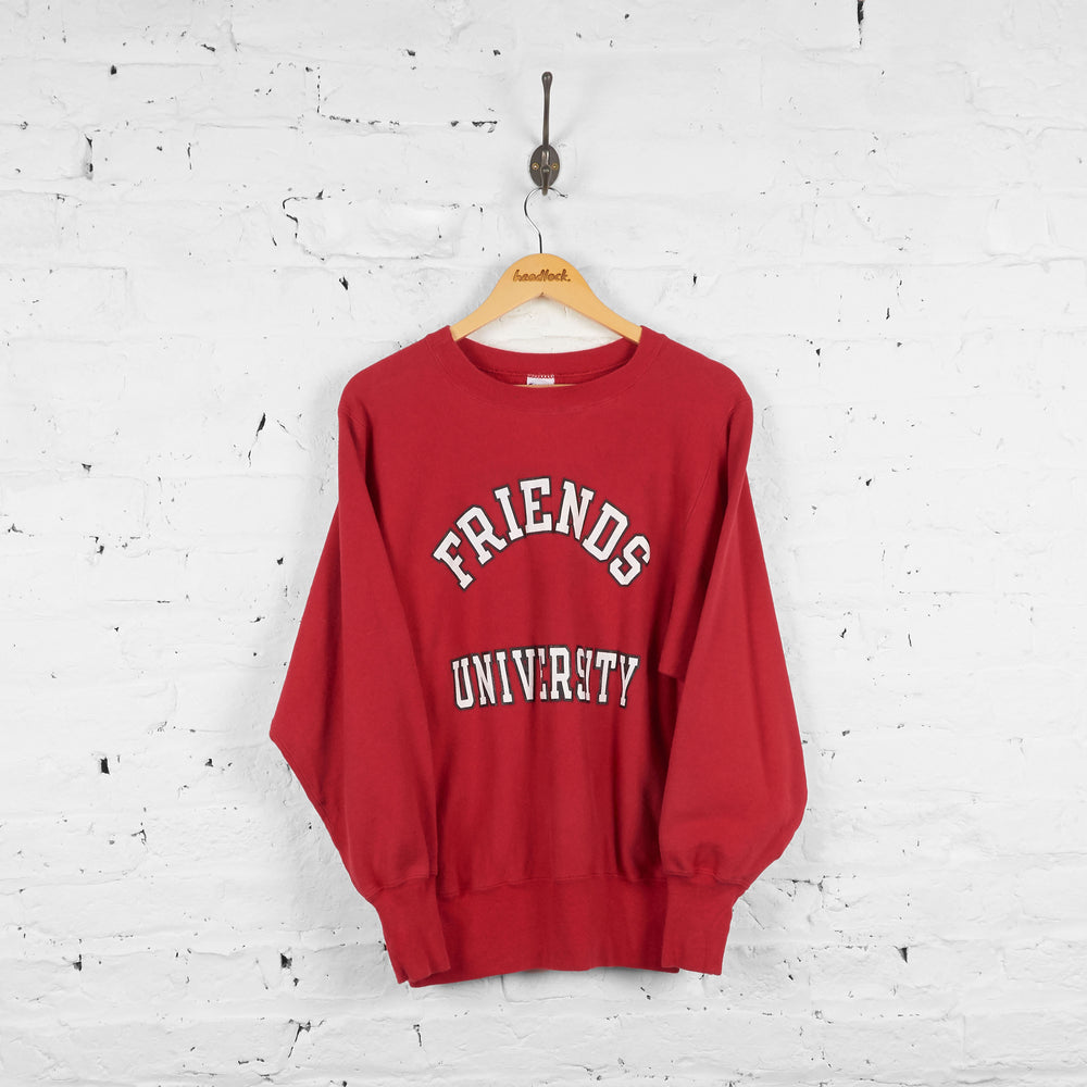 Vintage Friends University Champion Sweatshirt - Red - M