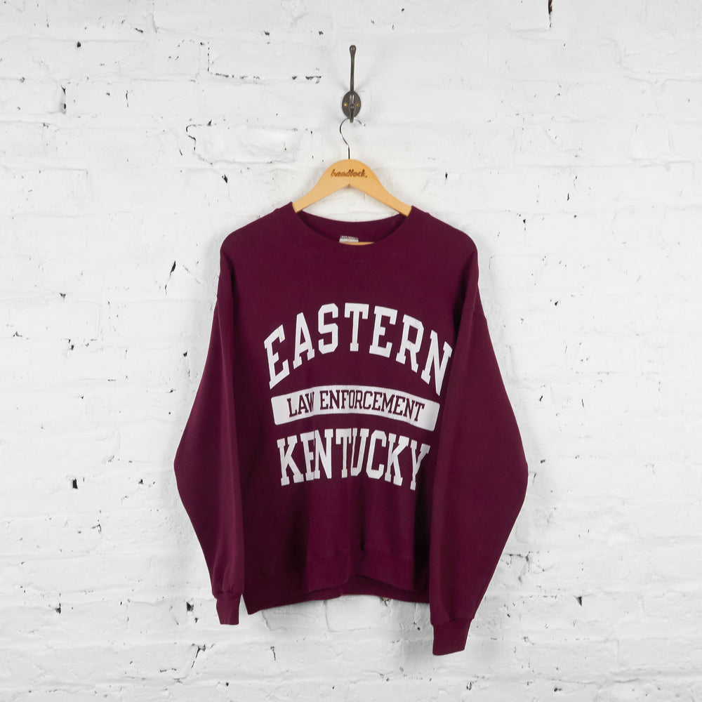 Vintage Eastern Law Enforcement Kentucky Sweatshirt - Burgundy - L