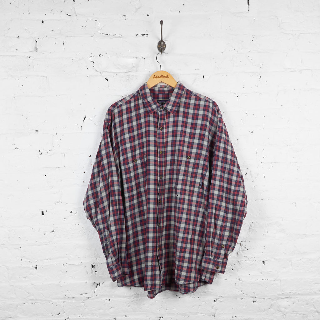 Vintage Patagonia Checked Shirt - Green/Blue/Red - L