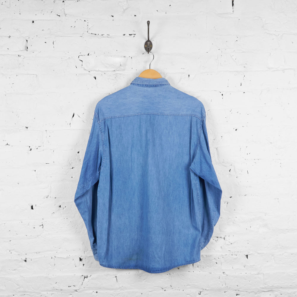 Vintage Valentino Denim Shirt - Blue - M