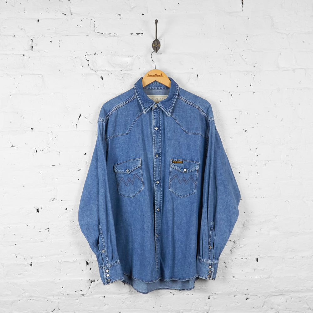 Vintage Replay Denim Shirt - Blue - XL