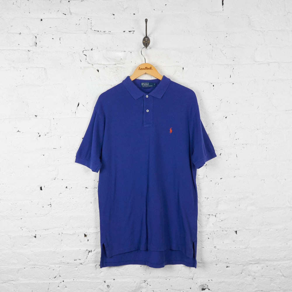 Vintage Ralph Lauren Polo Shirt - Blue - L