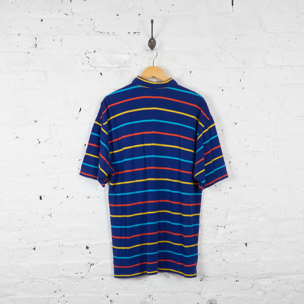 Vintage Striped Tommy Hilfiger Shirt - Blue/Orange - L