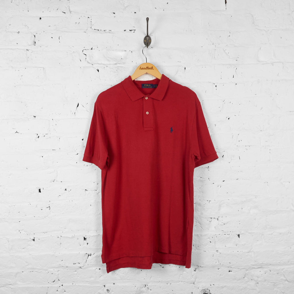 Vintage Ralph Lauren Polo Shirt - Red - L