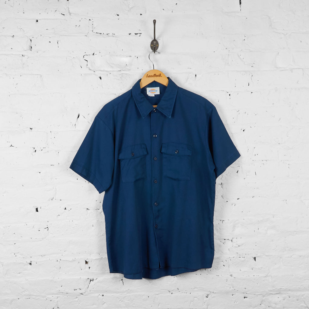 Vintage Dickies Utility Shirt - Blue - XL