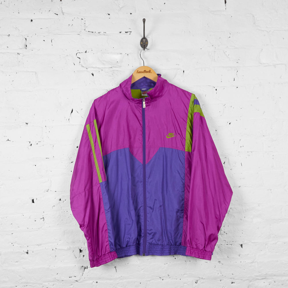 Vintage Nike Shell Jacket - Pink/Purple/Green - XL