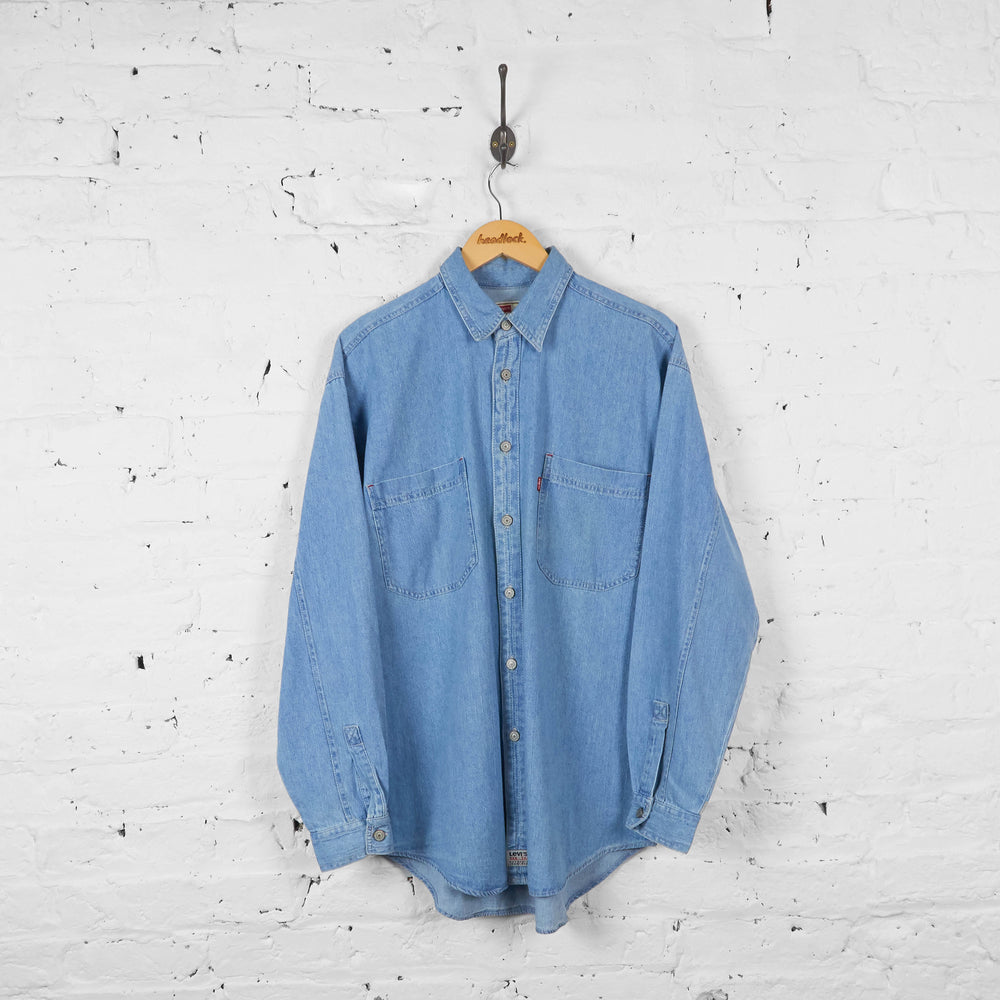Vintage Levi's Denim Shirt - Blue - M