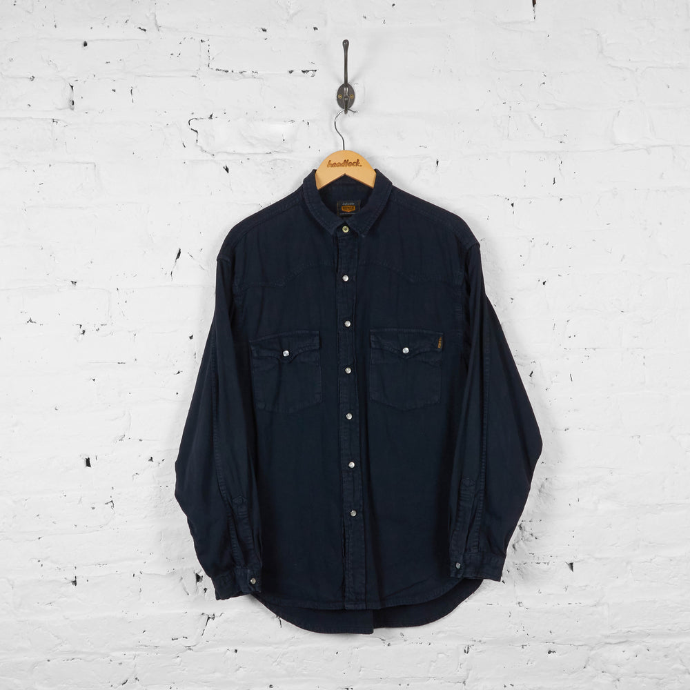 Vintage Denim Shirt - Black - M