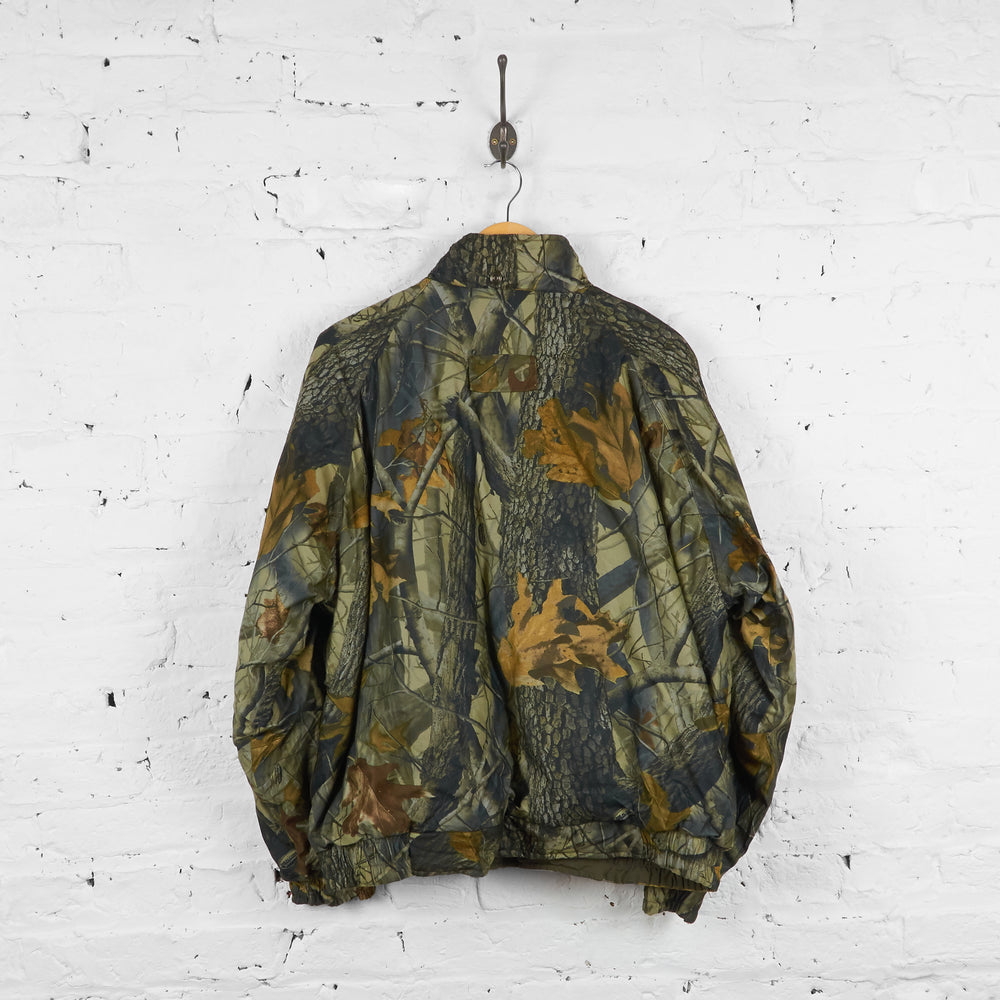Vintage Woolrich Camouflage Quilted Jacket - Brown/Green - M