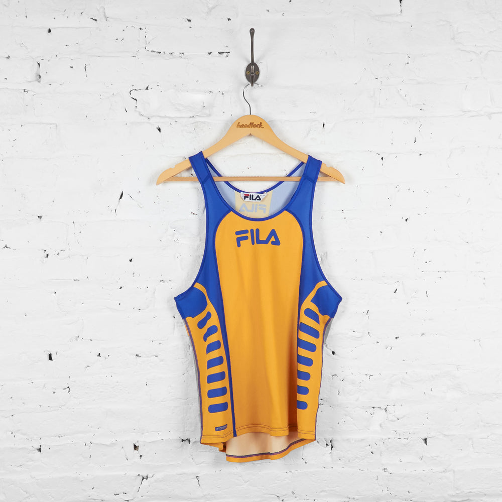 Vintage Fila Jersey - Yellow/Blue - M