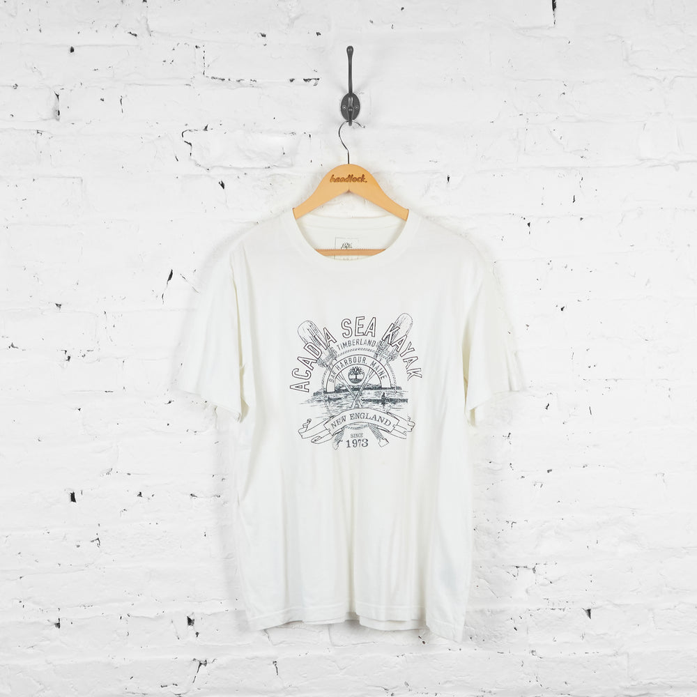 Vintage Timberland Kayaking T-shirt - White - L