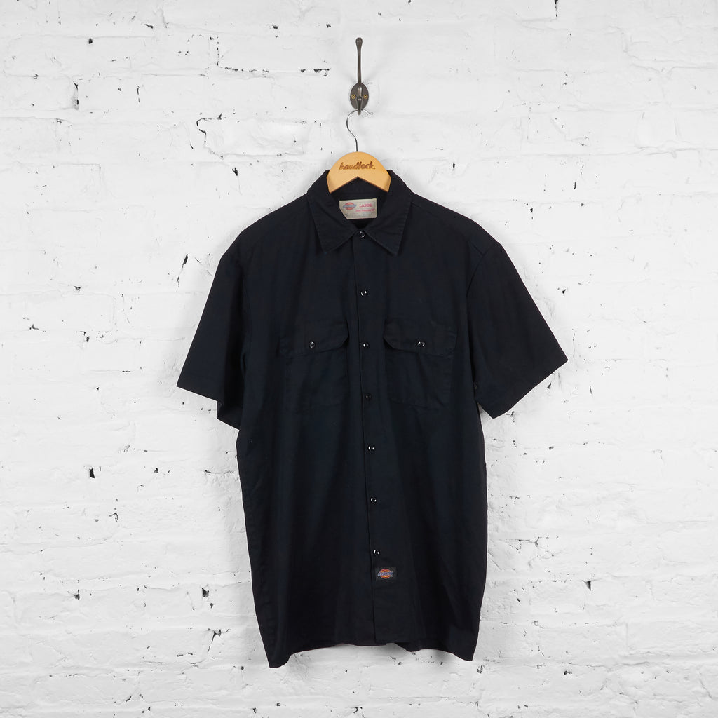 Vintage Dickies Utility Shirt - Black - L