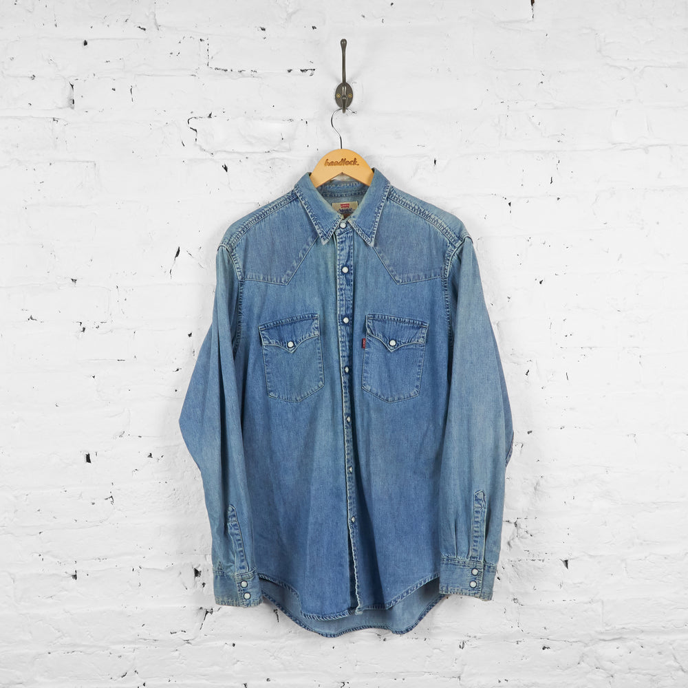 Vintage Levi's Denim Shirt - Blue - L