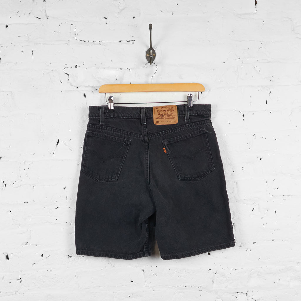 Vintage Levi's 550 Denim Shorts - Black - L