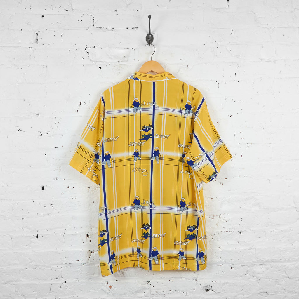 Vintage Lil Thug Patterned Shirt - Yellow - XL