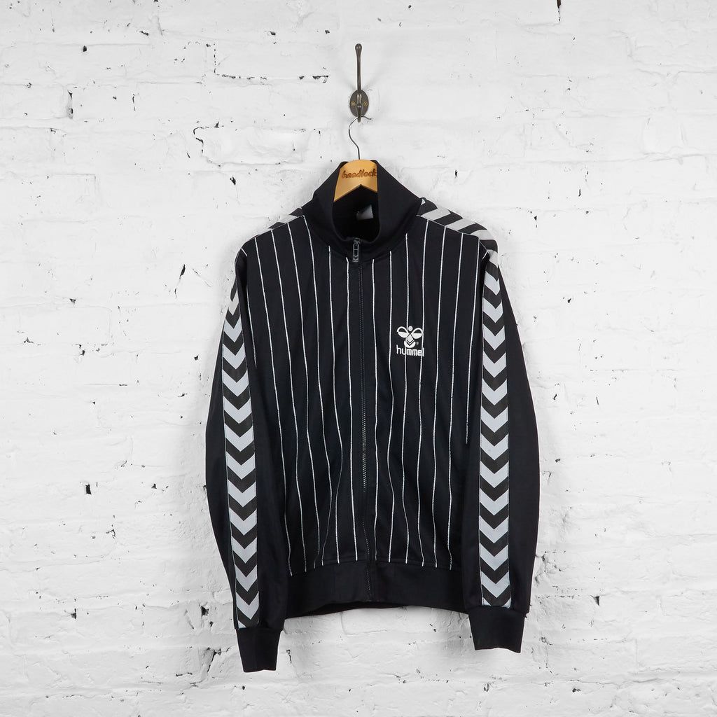 Vintage Hummel Tracksuit Top - Black/White - XL