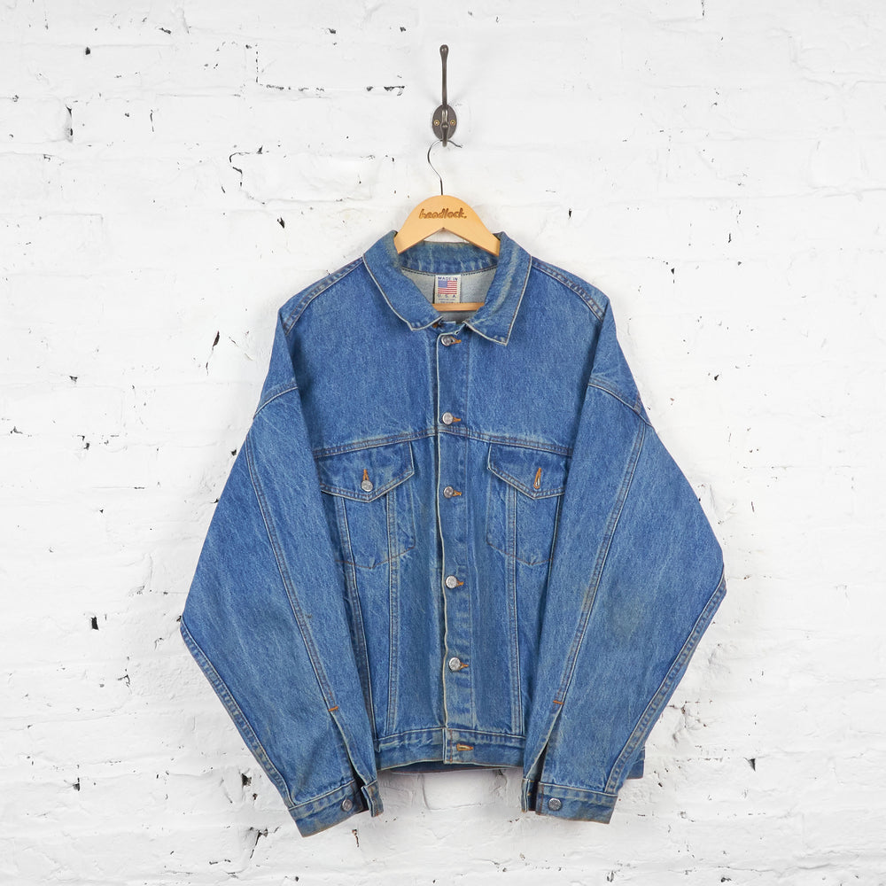 Vintage Coca-Cola Denim Jacket - Blue - L