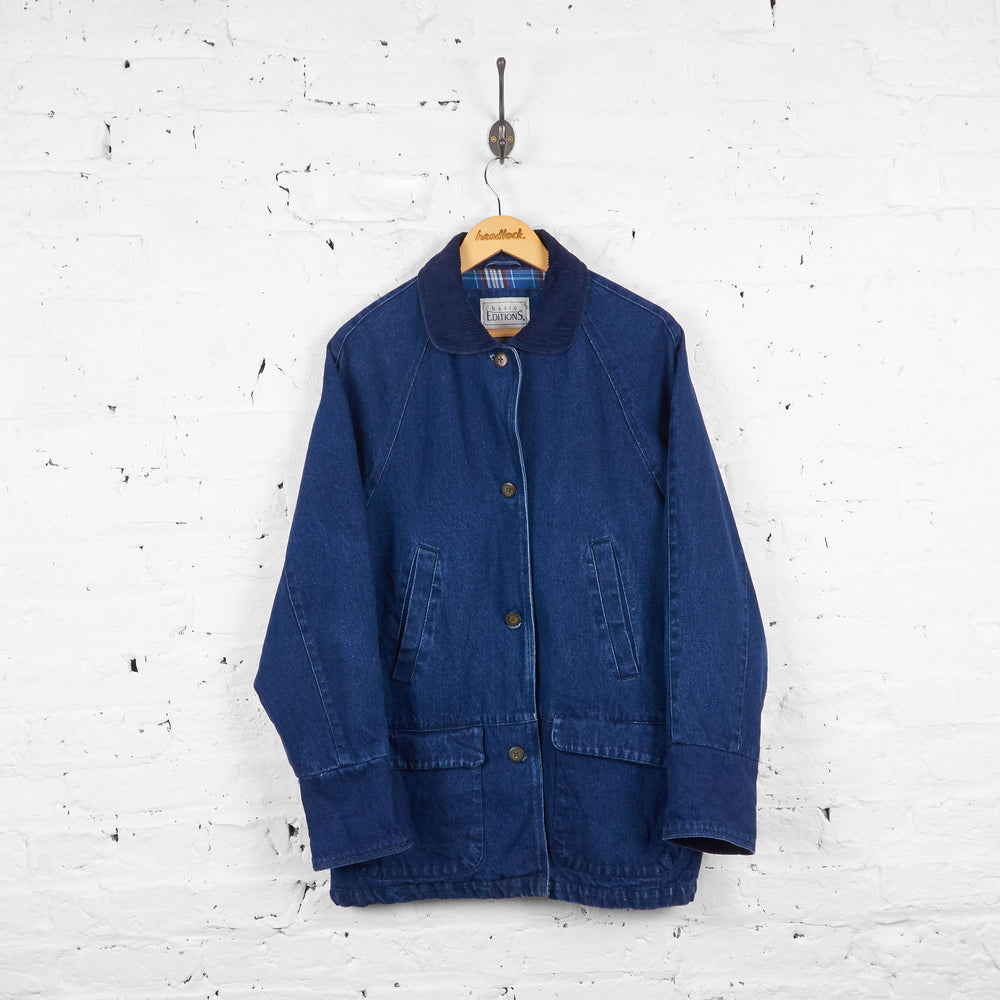Vintage Denim Longline Jacket - Blue - M