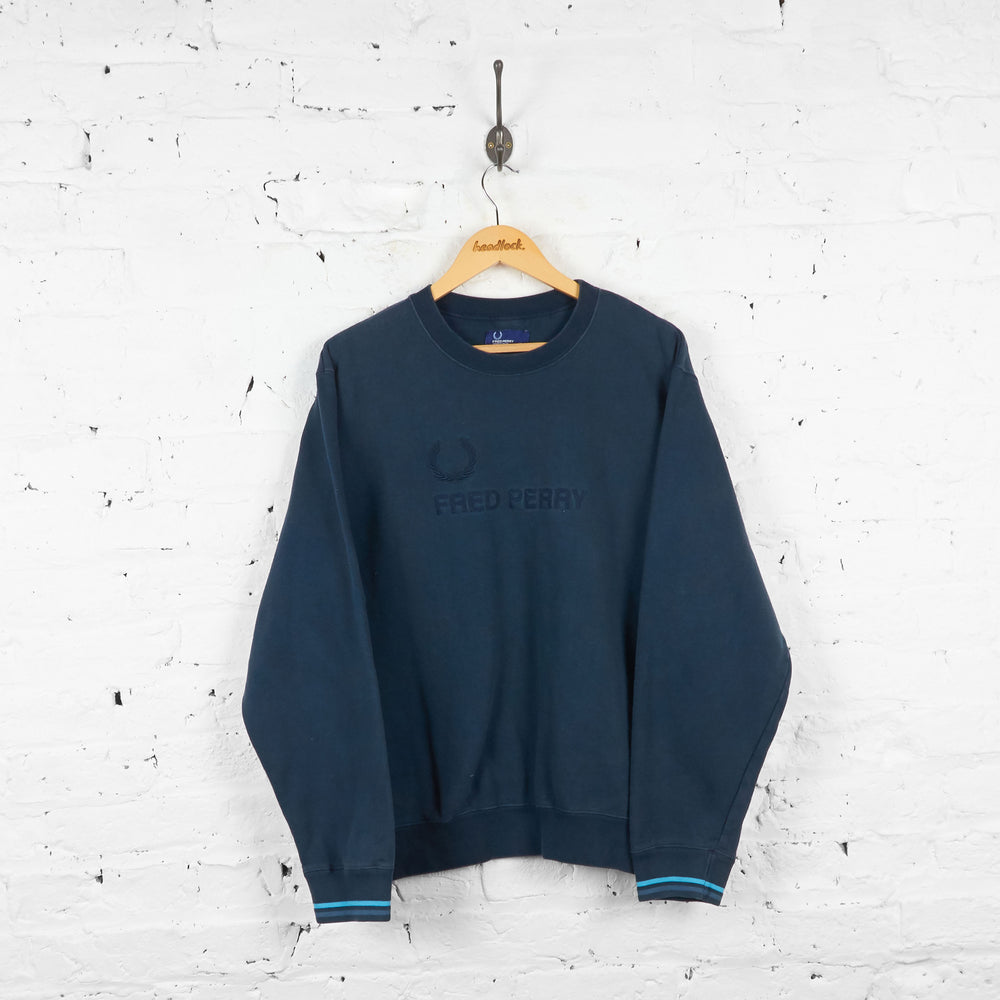 Vintage Fred Perry Sweatshirt - Navy - XXL