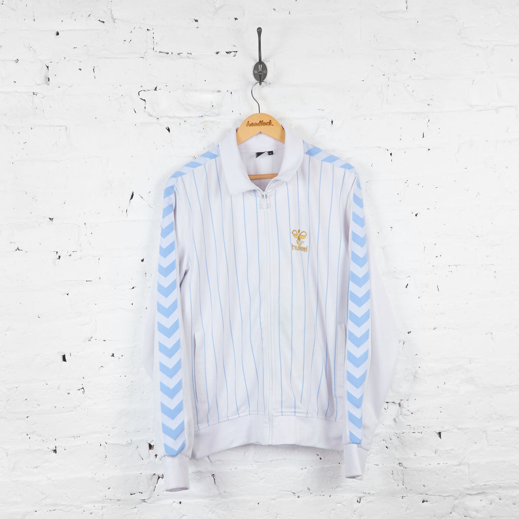 Vintage Hummel Tracksuit Top - White/Blue - XL