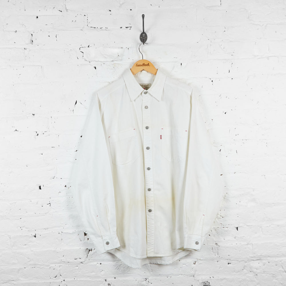 Vintage Levi's Denim Shirt - White - L