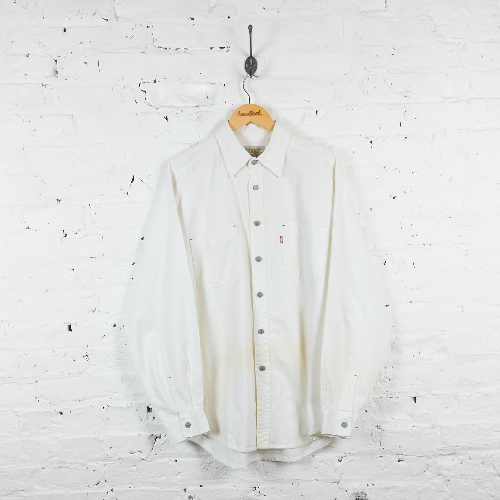 Vintage Levi's Denim Shirt - White - L - Headlock