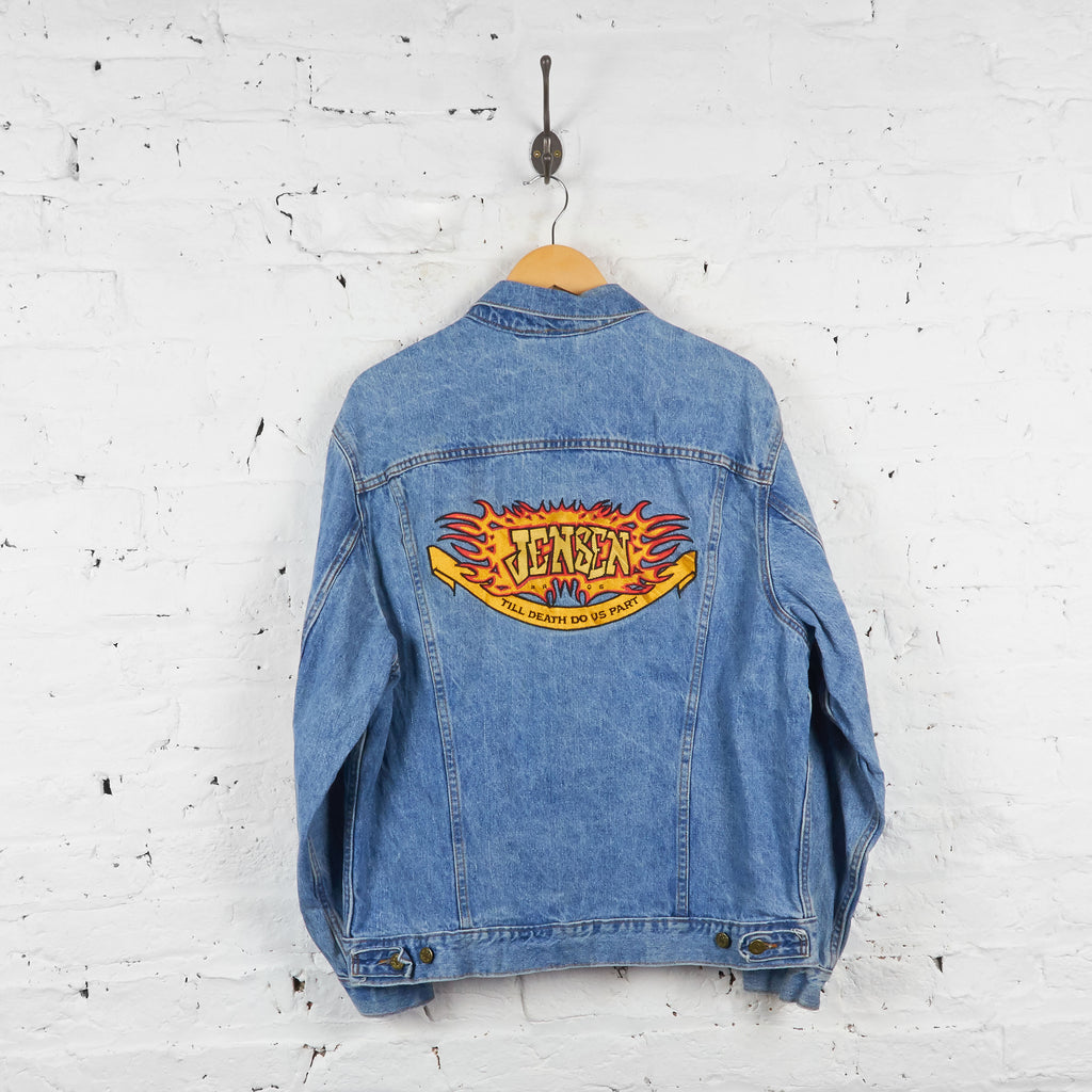 Vintage Jensen Motors Adidas Denim Jacket - Blue - XL