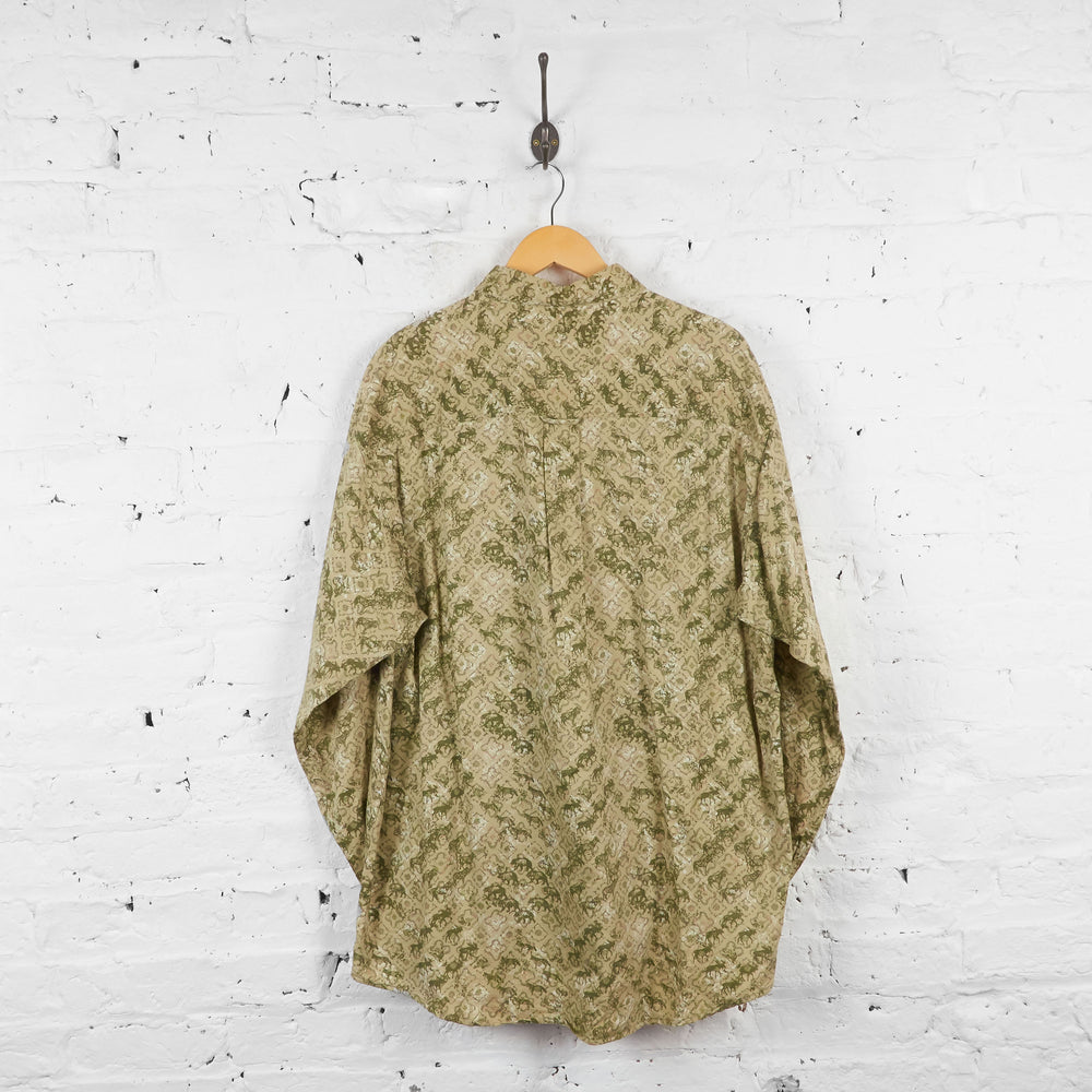 Vintage Woolrich Animal Patterned Shirt - Green/Brown - XL