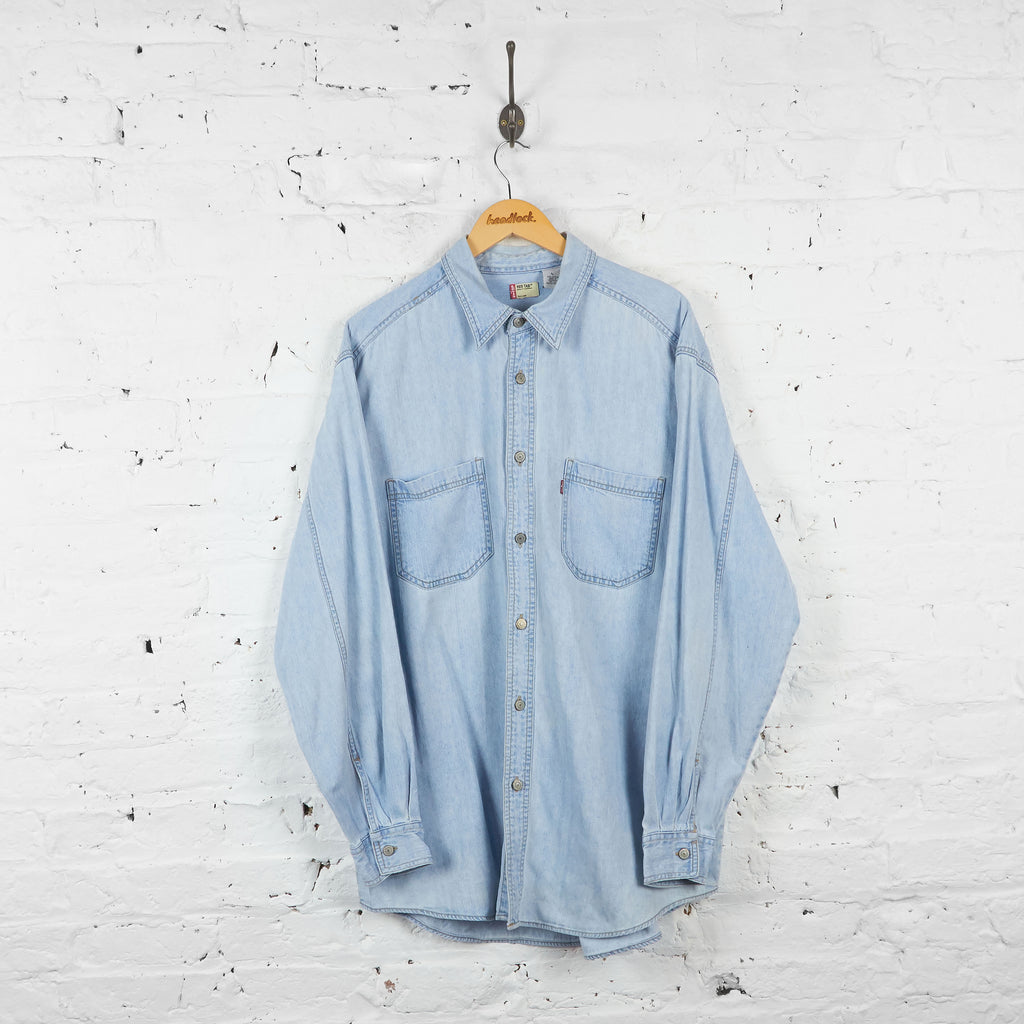 Vintage Levi's Denim Shirt - Blue - L - Headlock