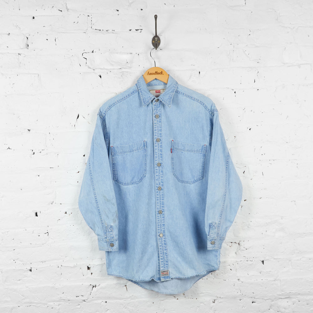 Vintage Levi's Denim Shirt - Blue - S - Headlock