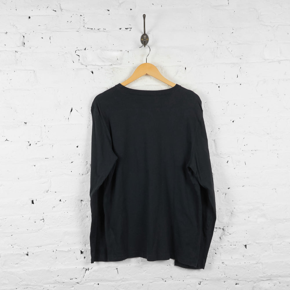Vintage Timberland Long Sleeve T-Shirt - Black/Grey - L