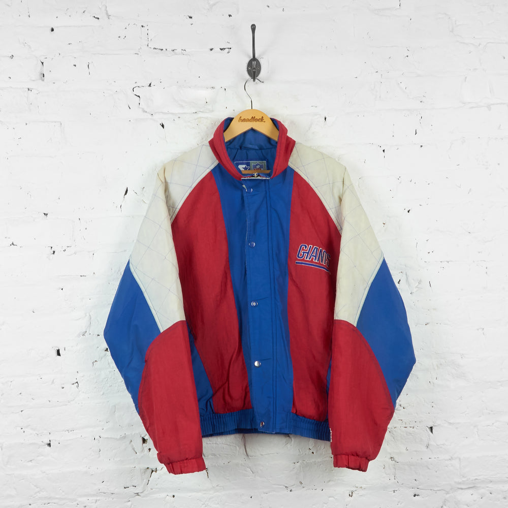 Vintage NFL New York Giants Padded Jacket - Blue/Red - S