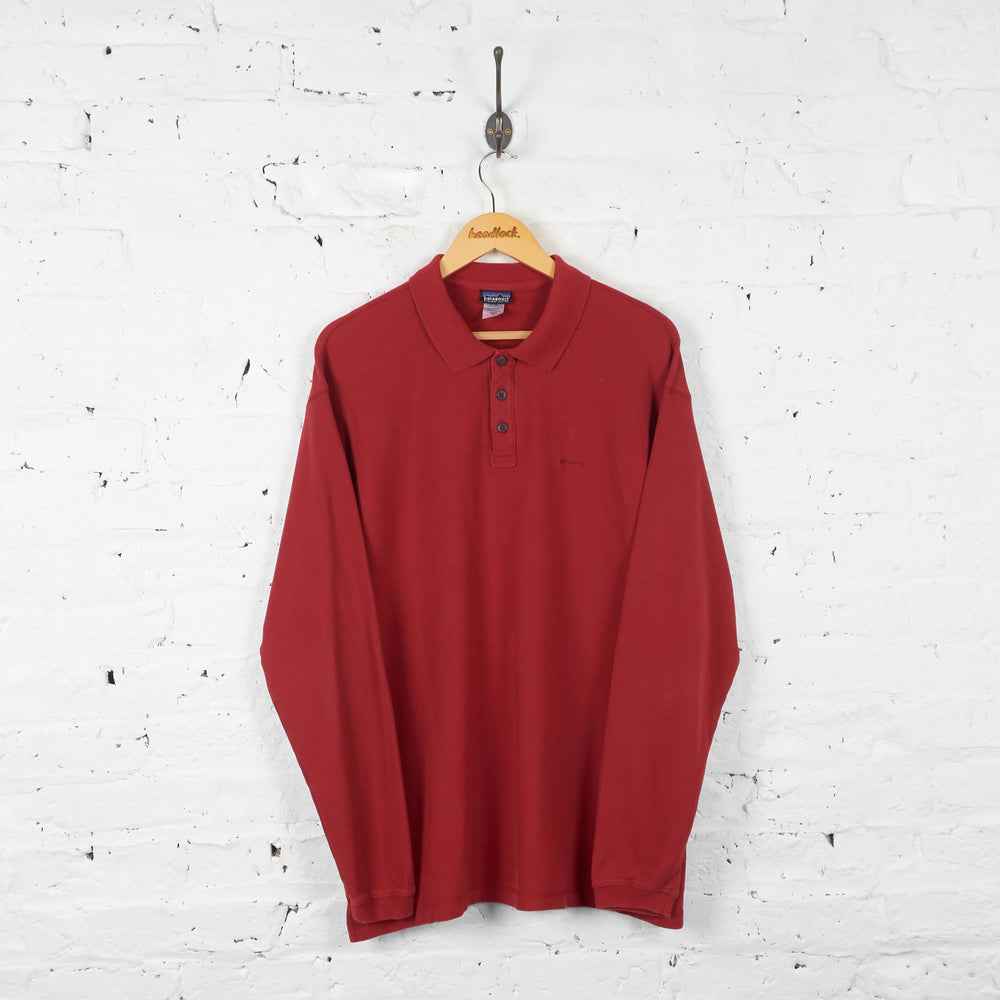 Vintage Patagonia Polo Shirt - Red - L