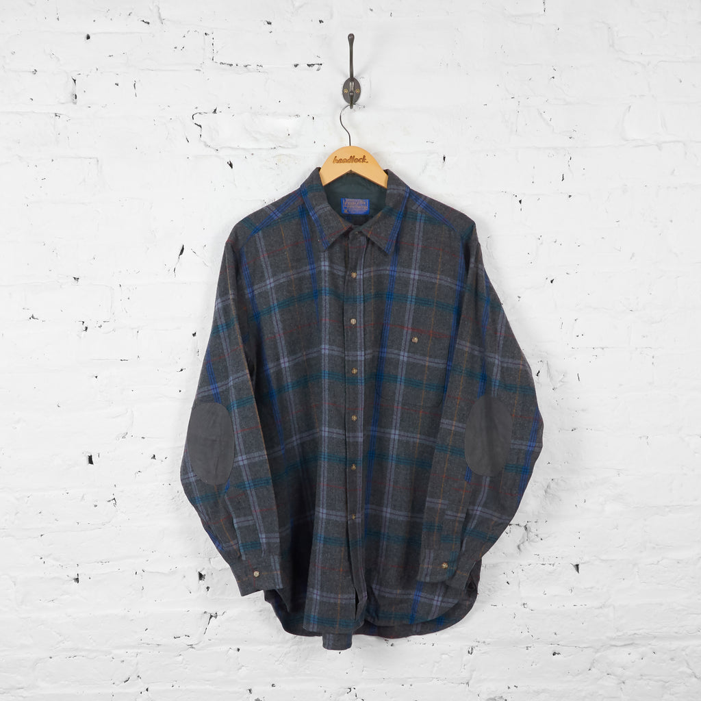 Vintage Pendleton Checked Shirt - Blue - XL