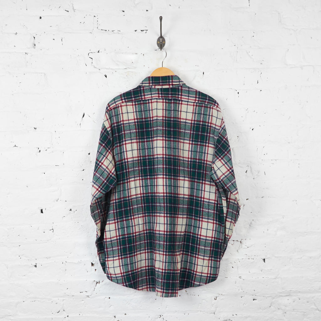 Vintage Pendleton Checked Shirt - Red/Green - XL