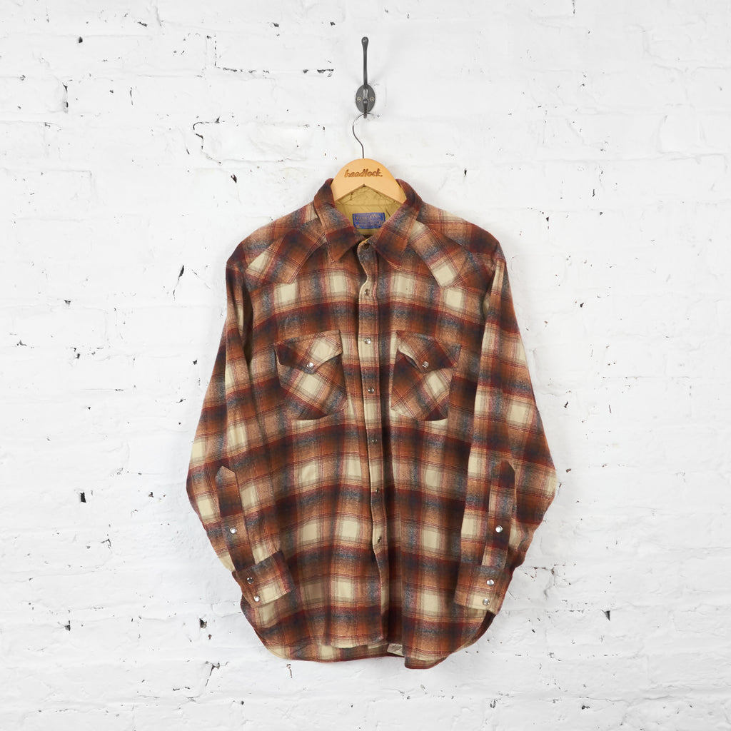 Vintage Pendleton Checked Shirt - Brown - XL